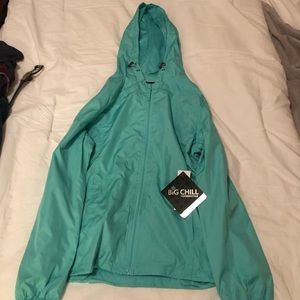 Blue rain jacket new with tags